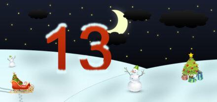 13. Adventskalendertürchen