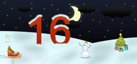 16. Adventskalendertürchen