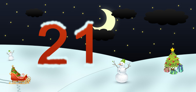 21. Adventskalendertürchen