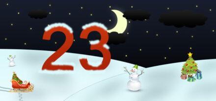 23. Adventskalendertürchen