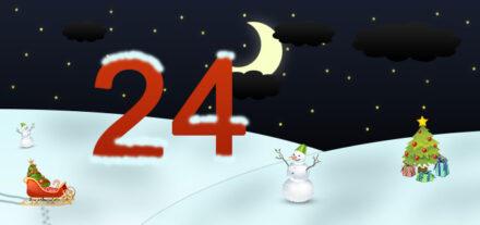 24. Adventskalendertürchen