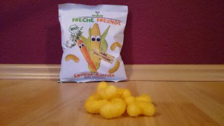 Ellas Lieblingssnack: Knusper-Flippies Mais & Karotte von Freche Freunde