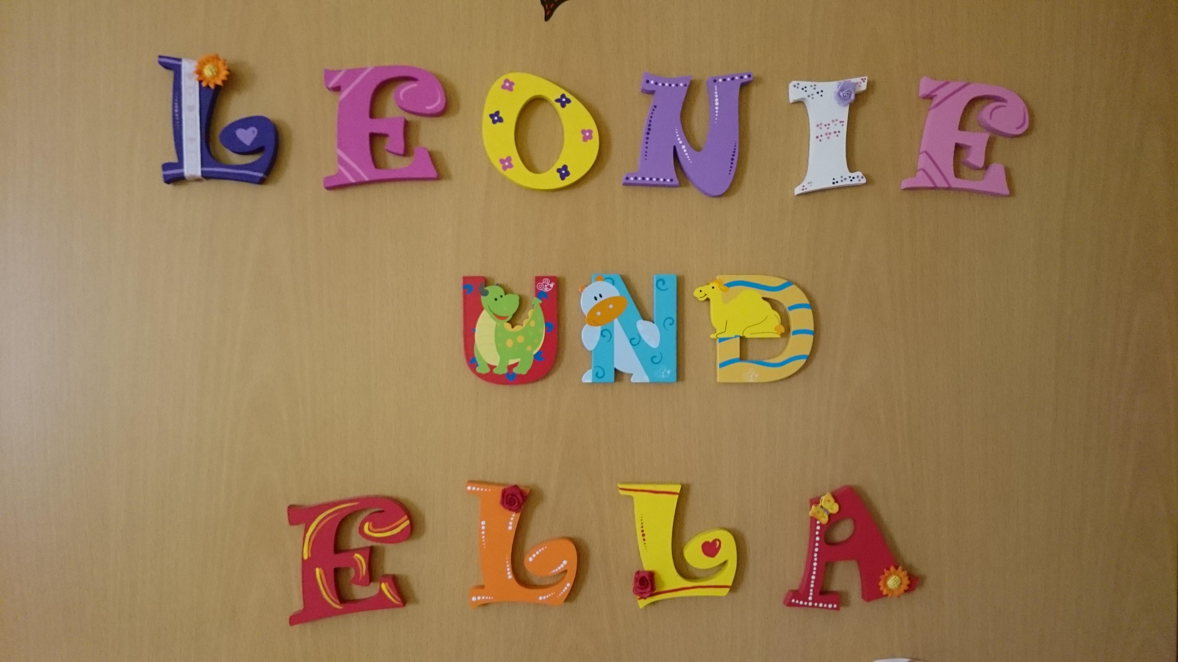 Holzbuchstaben, so bunt und wundersch̦n РKinderchaos