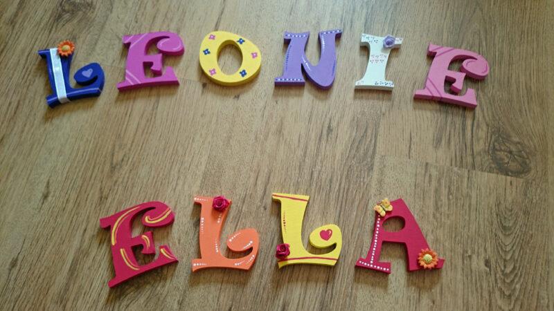 Holzbuchstaben, so bunt und wunderschön
