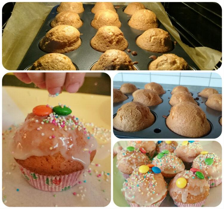 Bunt, fröhlich und lecker - Kinderleichte Muffins für das Faschingsfest mit Kindern backen