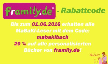 20% Rabattcode von framily.de für alle Kinderchaos-Leser/innen!