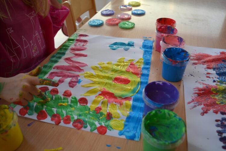 Fingerfarben für Kinder