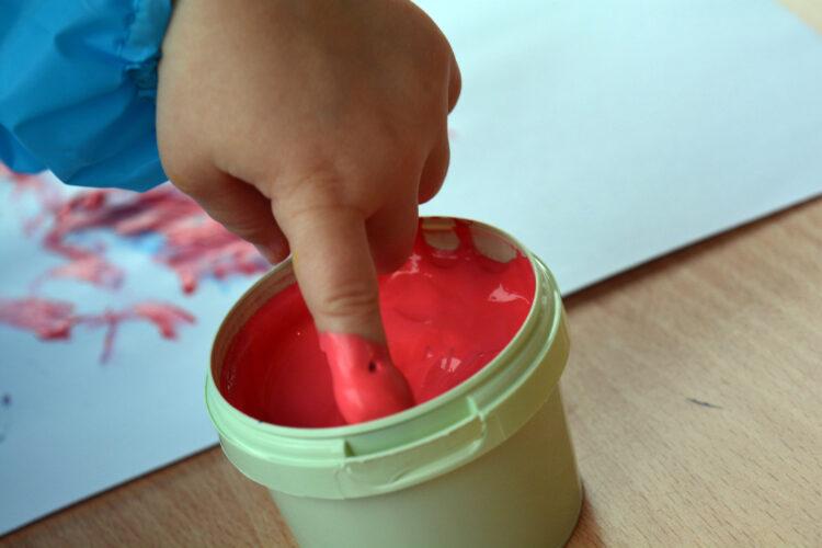 Fingerfarben für Kleindkinder