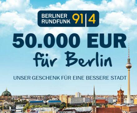 Ich bitte euch um eure Unterstützung: 50.000 Euro für Berlin!