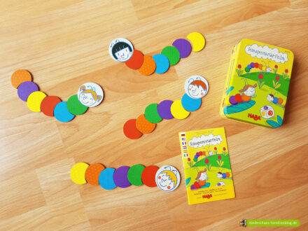 Farben lernen: Wir spielen Raupenwürfeln von HABA