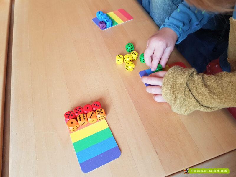 6 Richtige Regenbogenwürfelei 2