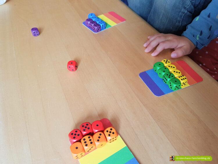 6 Richtige Regenbogenwürfelei