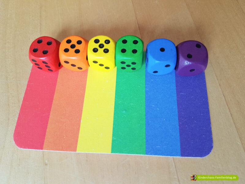 6 Richtige Regenbogenwürfelei 6