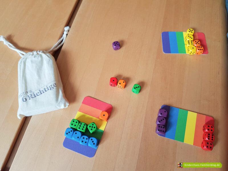 6 Richtige Regenbogenwürfelei 7