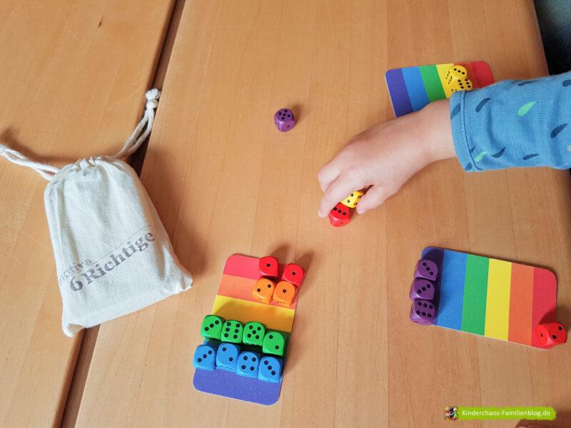 6 Richtige Regenbogenwürfelei 8