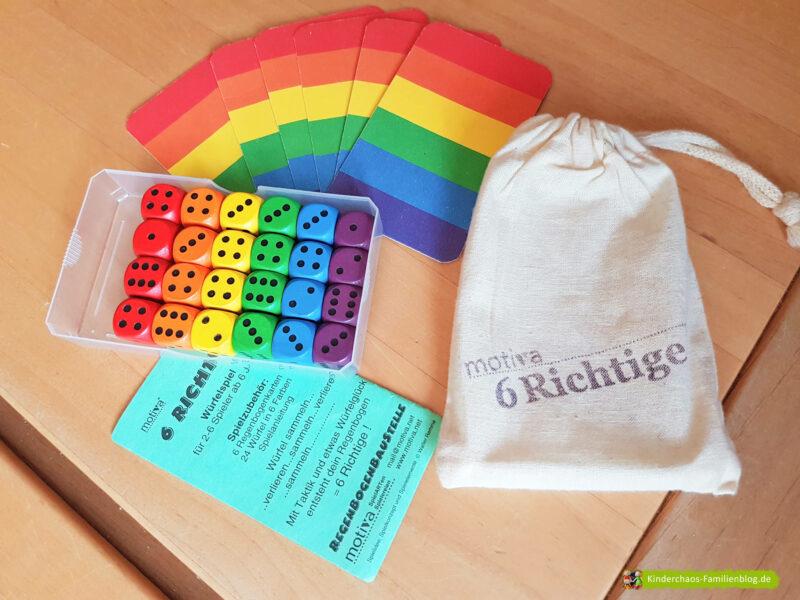 6 Richtige Regenbogenwürfelei 9