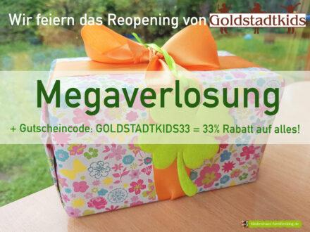 Wir feiern das Reopening von Goldstadtkids mit einer Megaverlosung!