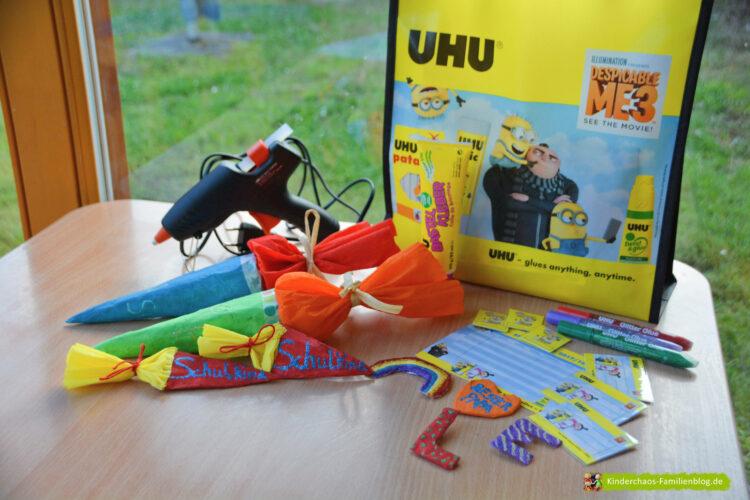Uhu Back to School Anstecker Buttons Party Kindergeburtstag Einschulung