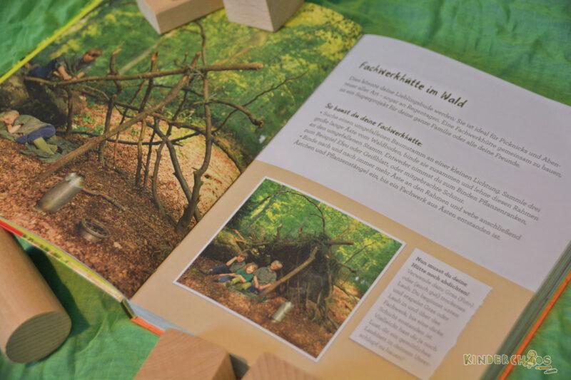 Buden Bauen Wiese, Wald und Strand