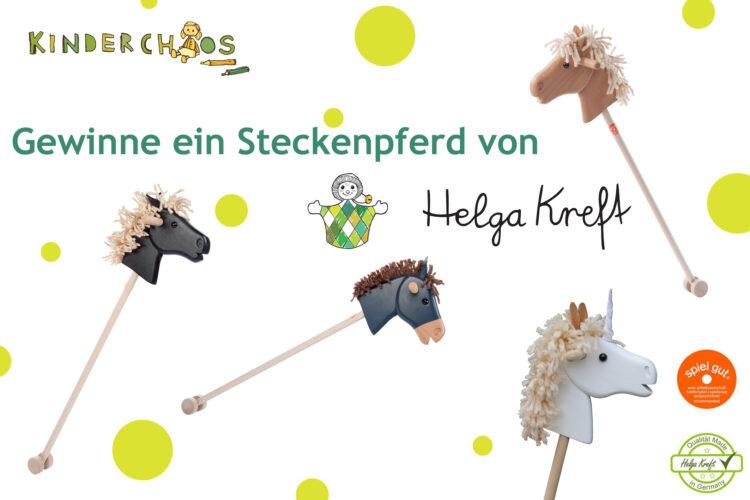 Steckenpferd Steckenpferde Steckenesel Helga Kreft Holzspielzeug Reiterhof Pferdestall Pferde Gewinnspiel