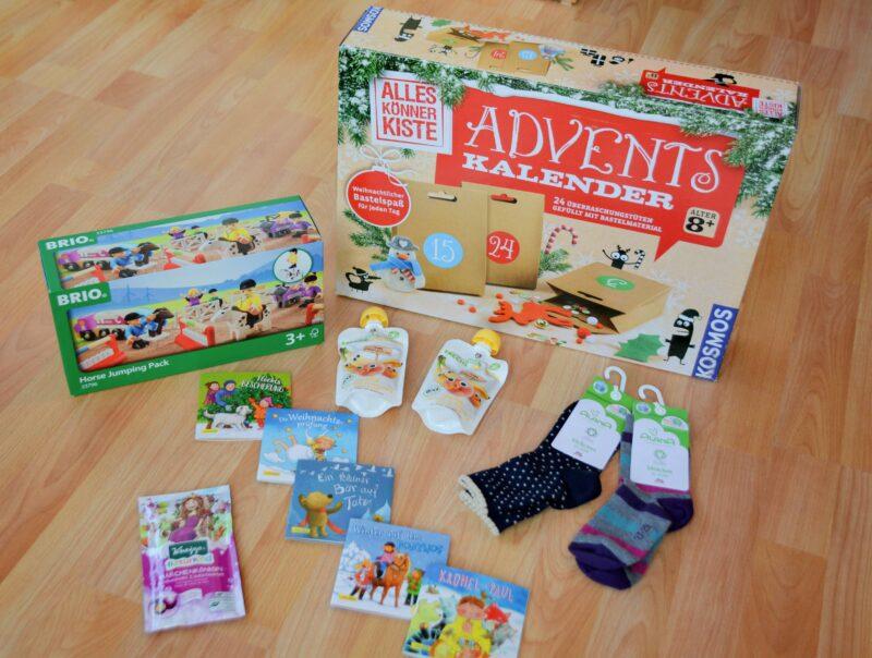 Die diesjährigen Adventskalender für Leonie und Ella: Adventskalender für 3- und 7-jährige