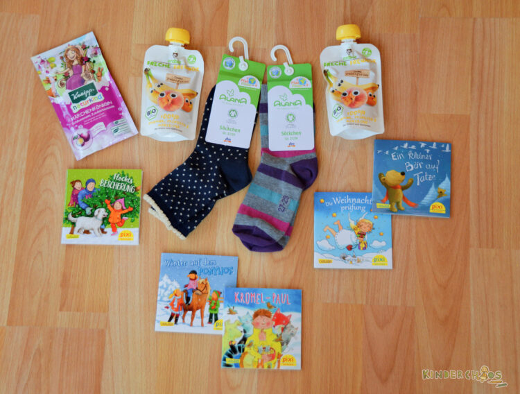 Adventskalender 3 Jahre Alana Socken Kneipp Pixi Carlsen Freche Freunde