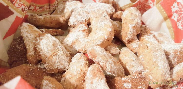 Backen mit Kindern Vanillekipferl Weihnachtsbäckerei