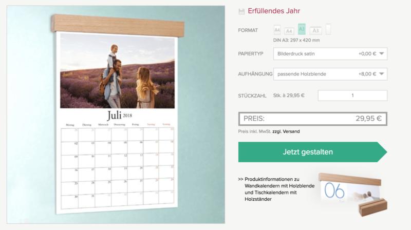 Wandkalender Sendmoments