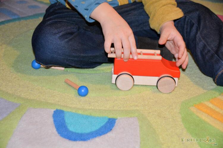 Helga Kreft Puzzlemobil Feuerwehr Holzspielzeug Auto Holzauto Adventskalender
