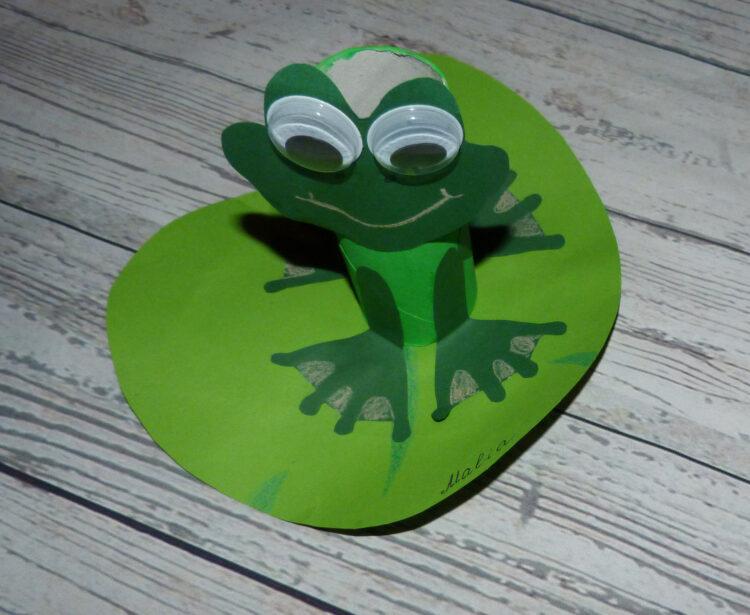 Basteln mit Klopapierrollen Toilettenpapierrollen Küchenpapierrollen Tiere Frosch