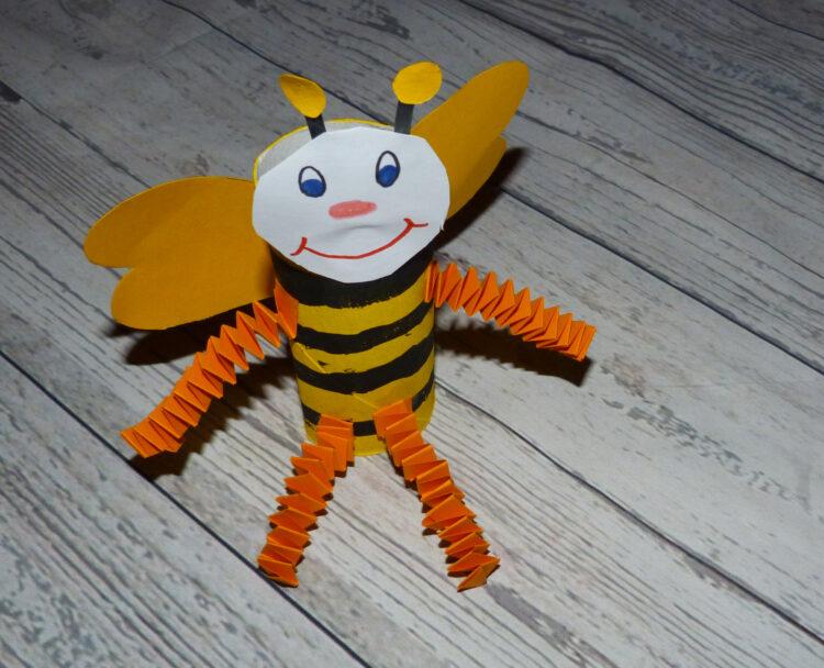 Basteln mit Klopapierrollen Toilettenpapierrollen Küchenpapierrollen Tiere Biene