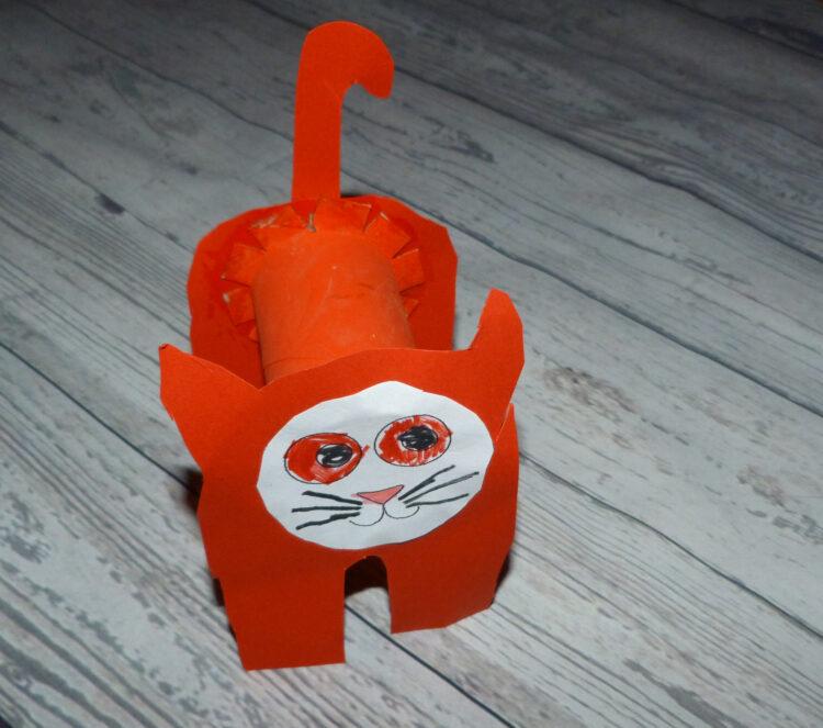 Basteln mit Klopapierrollen Toilettenpapierrollen Küchenpapierrollen Tiere Katze