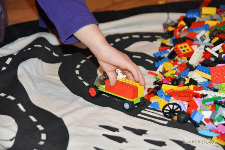Play & Go Sack Spielsack Aufbewahrungssack Aufräumsack aufräumen Kinderzimmer Ordnung Roadmap Lego
