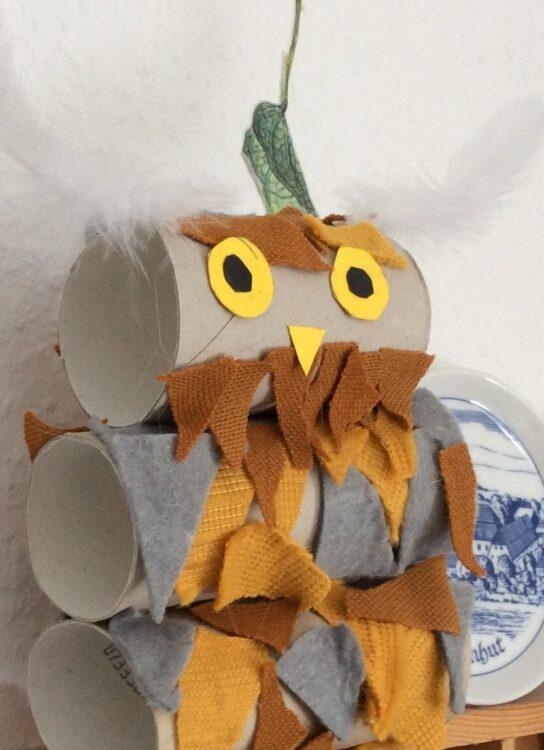 Basteln mit Klopapierrolle Toilettenpapierrolle Küchenpapierrolle Eule