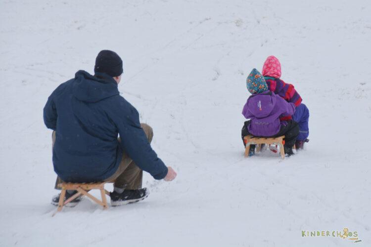 VT-Sport Schlitten Holzschlitten Isbjörn Schneeoverall Overall Winter Penguin Waldkinderdinge
