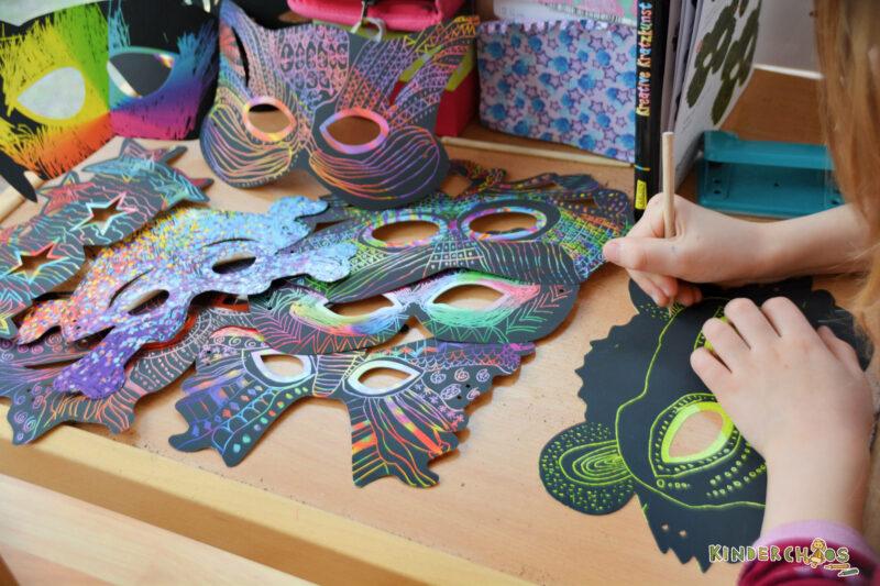 Carlsen Kreative Kratzkunst Masken Kinder