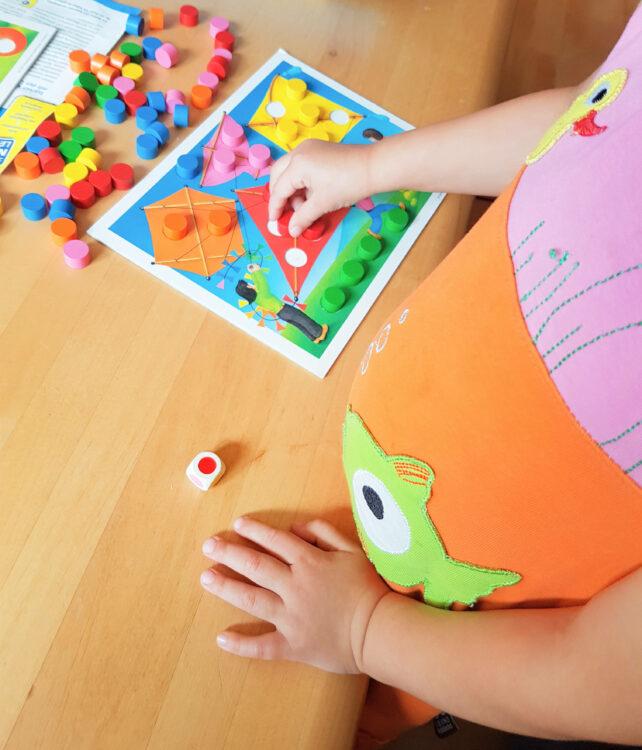 Quips Ravensburger Kinderspiel Gesellschaftsspiel Farben Zahlen