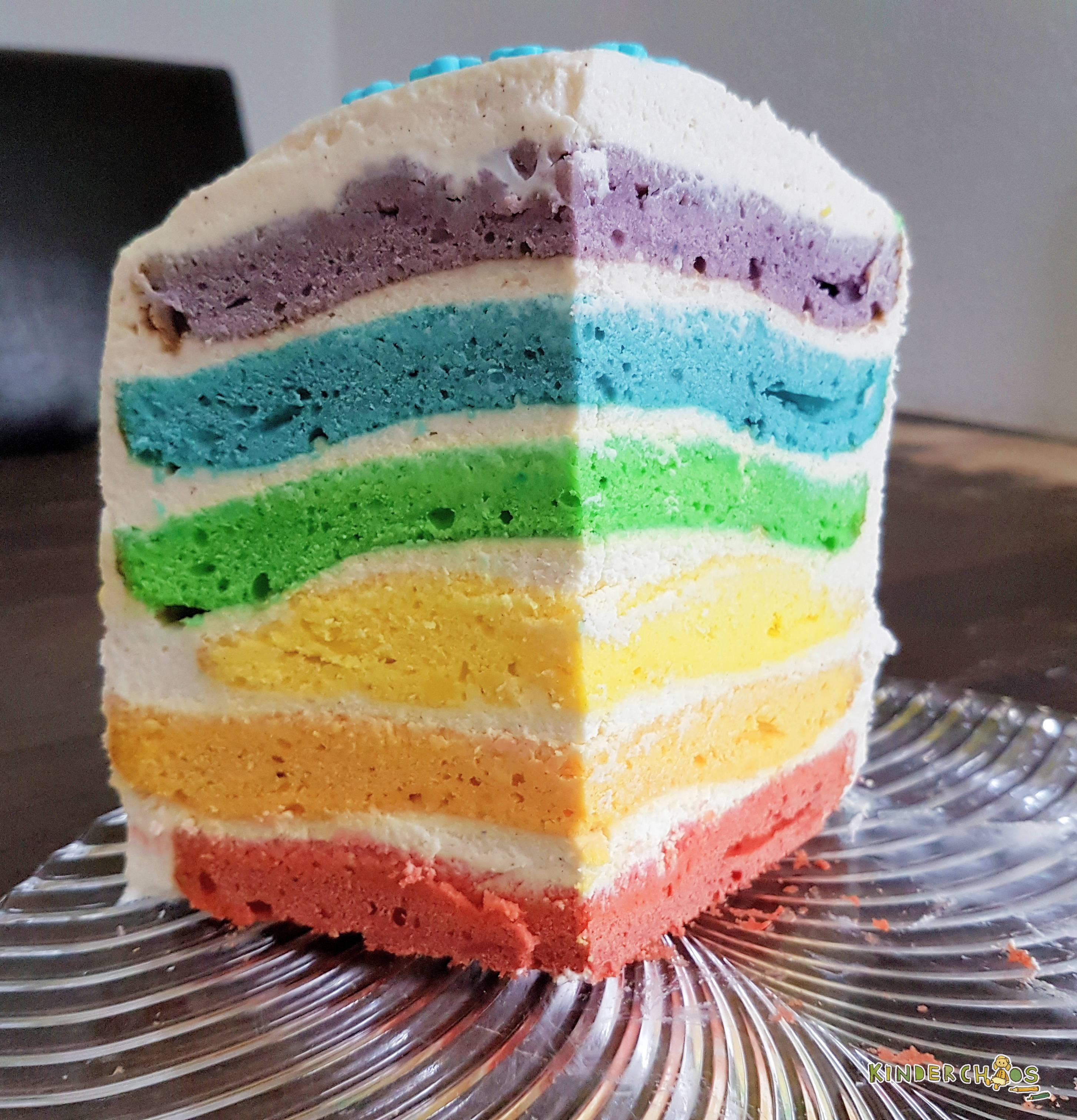 Regenbogentorte Ein Geburtstagskuchen Wie Ein Regenbogen