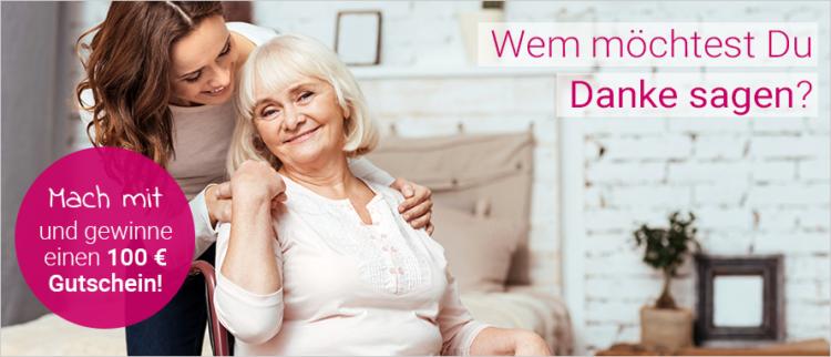 Alltagshelden idealclean Gewinnspiel 100 Euro Danke Pflege Versorgung Senioren Oma und Oma Eltern pflegen zu Hause