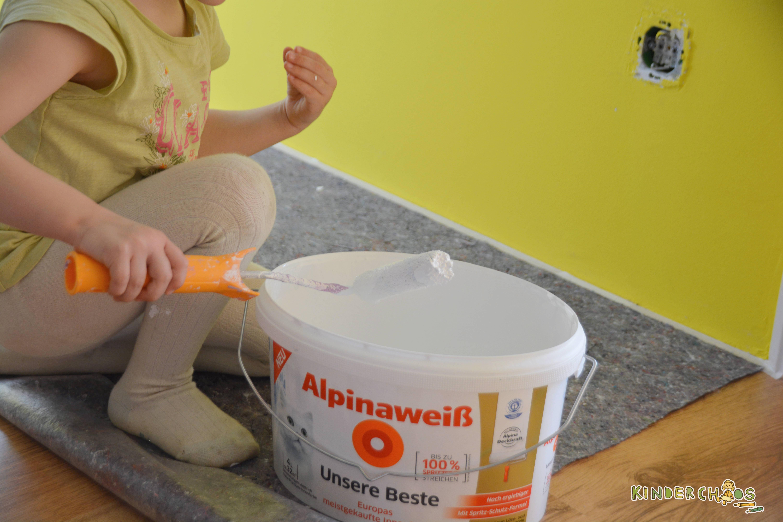 alpina farbenfreunde aus leonies kinderzimmer wird ein. Black Bedroom Furniture Sets. Home Design Ideas