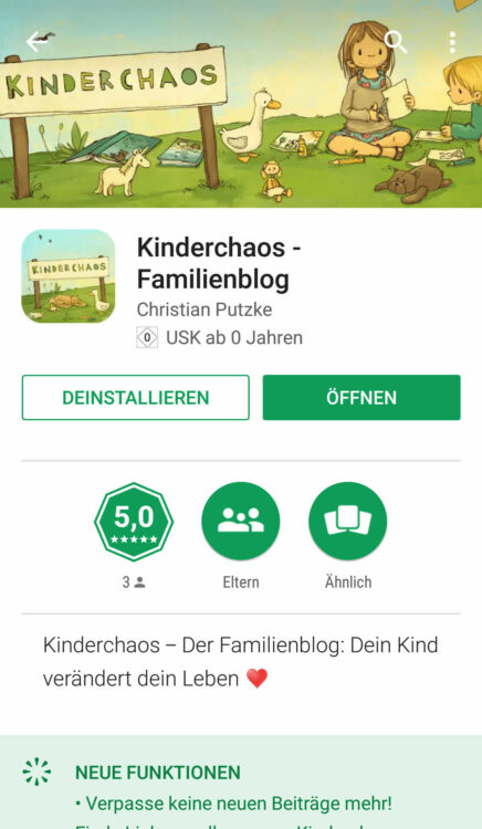 Kinderchaos-Familienblog App Playstore