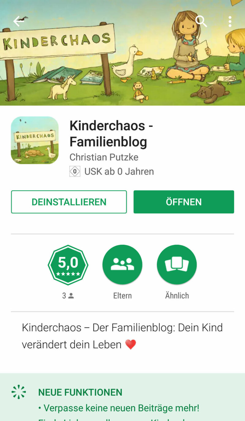App Kinderchaos Familienblog