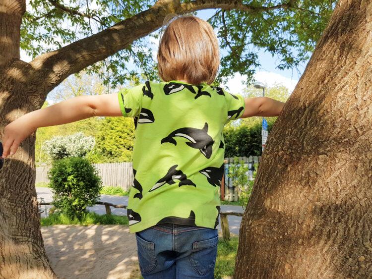 Smafolk Sommer Kinderkleidung Bio Wale Schwäne Einhorn