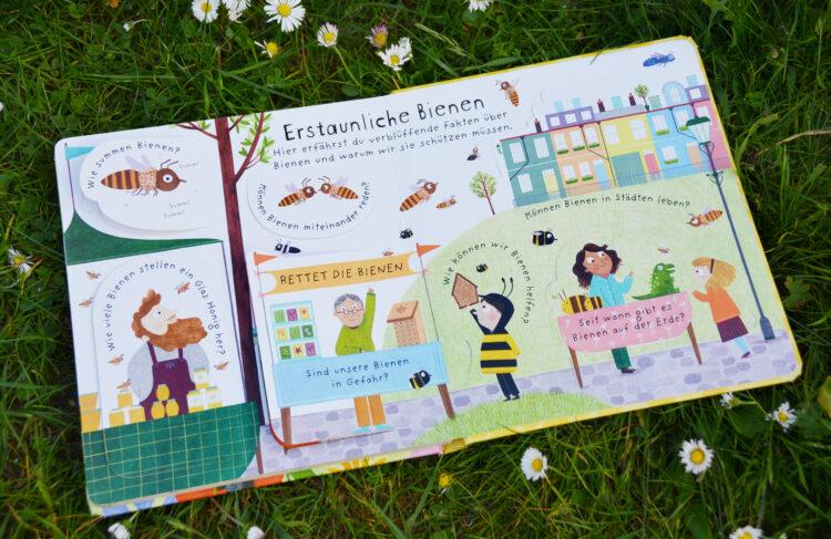 Zum Weltbienentag: Erstes Aufklappen und Verstehen - Warum brauchen wir Bienen? Kinderbuch Bilderbuch Kindersachbuch Sachbilderbuch
