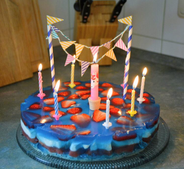 Pooltorte Pool Geburtstagskuchen Geburtstagstorte Poolparty Swimmingpool Kindergeburtstag