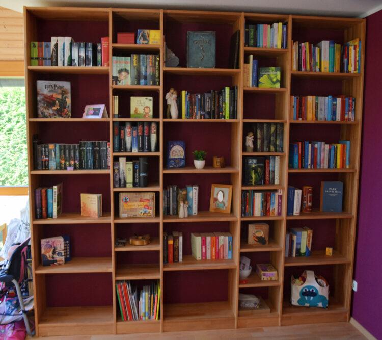 Bücherregal Bücherschrank Erle Erlenmöbel Holzregal Holzmöbel Massivholz massiv