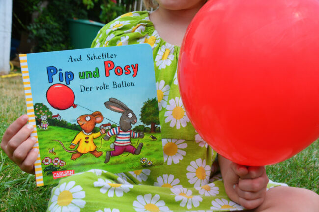 Alltagsgeschichten für die Jüngsten: Pip und Posy – Der rote Ballon von Axel Scheffler