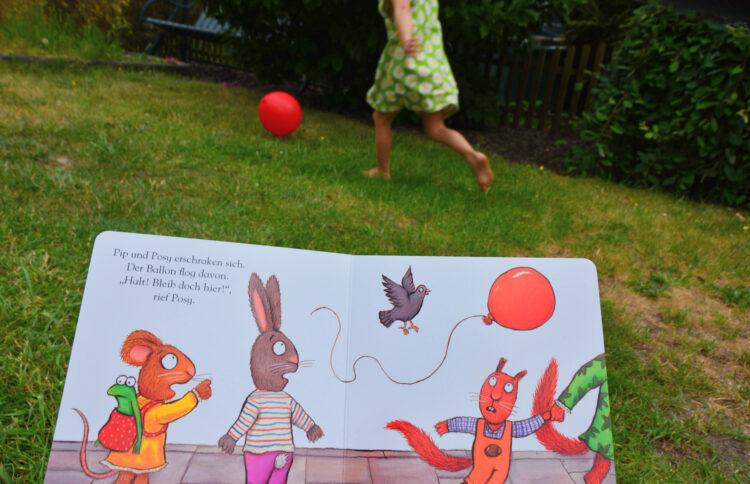 Pip und Posy Der rote Ballon Axel Scheffler Carlsen Verlag Kinderbuch Bilderbuch Pappbilderbuch