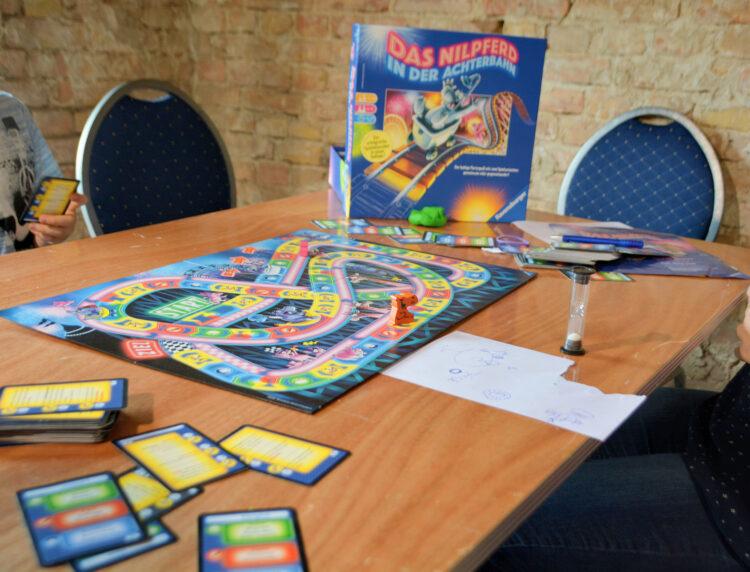 Berlin Brettspiel Con 2018 Brettspielmesse Gesellschaftsspiele Familienspiele Kinderspiele Das Nilpferd in der Achterbahn