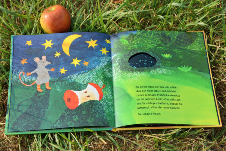Die Maus sucht ein Haus Sauerländer Petr Horacek Kinderbuch Bilderbuch Apfel